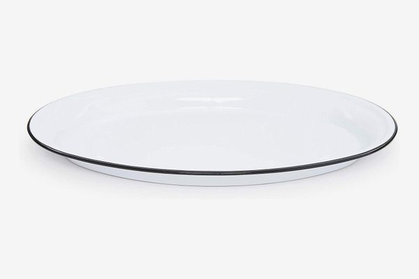 Crow Canyon Home Enamelware Oval Platter