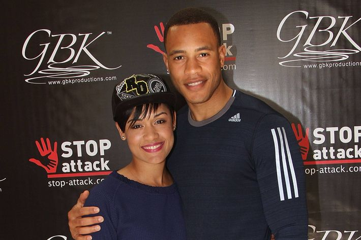 Grace Gealey and Trai Byers.