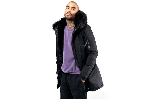 Sixth June Parka Jacket In Black With Faux Fur Hood