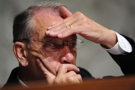 1WASHINGTON, DC JUNE 28:   Sen. Charles Grassley (R-IA) at the senate confirmation hearing for the nomination of Solicitor General Elena Kagan as an Associate Justice of the U.S. Supreme Court  in Washington, DC on June 28, 2010.   (Photo by Linda Davidson / The Washington Post via Getty Images)