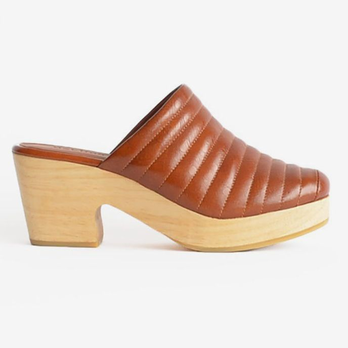 c88f885e957 The leather Beklina brand clog in cognac - the Strategist status clogs