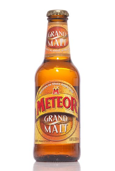 "Meteor (France)<br>$1.59 for 8.45 oz. <br><strong>Type:</strong> Pale Lager<br><strong>Tasting notes:</strong> ""Light-bodied, with a honey sweetness."" <br>—Jay Steinhauer, head of sales, American Beer Distributing Company<br>  <br>"