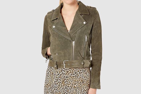 BLANKNYC Women's Suede Moto Jacket