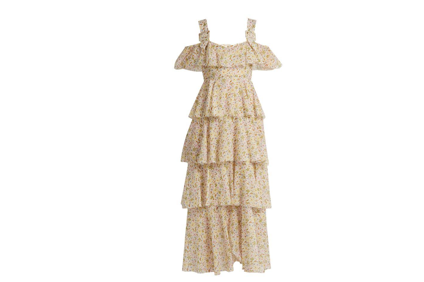 ALEXACHUNG Floral Dress