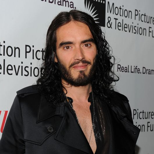 LOS ANGELES, CA - NOVEMBER 05:  Actor/comedian Russell Brand arrives at The Hollywood Reporter's Annual Next Generation Reception held at Milk Studios on November 5, 2011 in Los Angeles, California.  (Photo by Alberto E. Rodriguez/Getty Images)