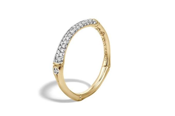 John Hardy Band Ring with Diamonds