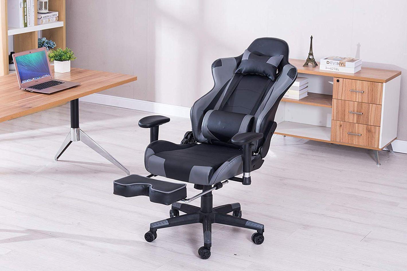 KILLABEE Big and Tall Massage Memory Foam Gaming Chair