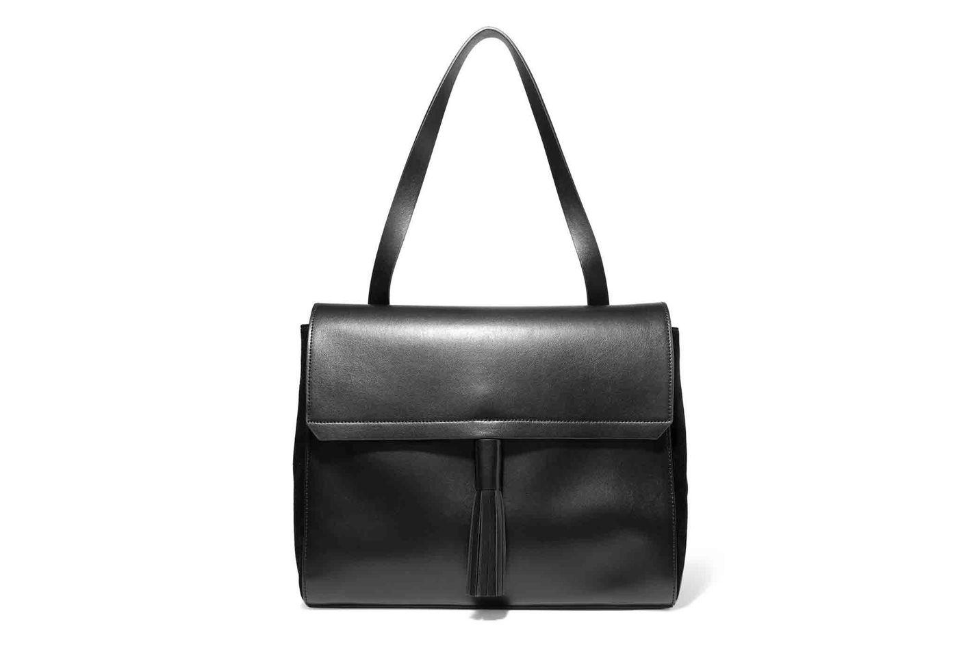 Iris & Ink Tasseled Leather Shoulder Bag