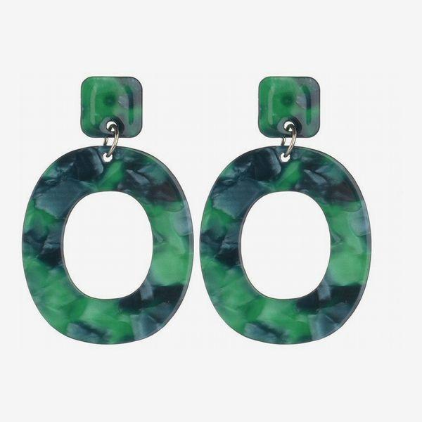 SIYWINA Acrylic Oval Earrings