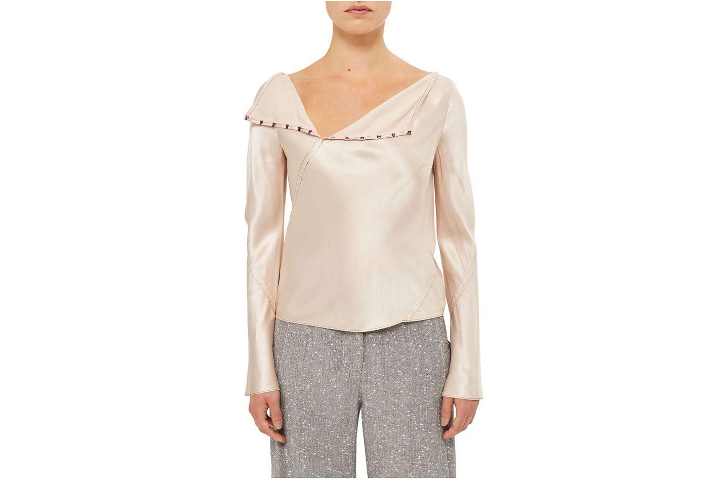 Topshop Unique Inspiral Silk Blouse