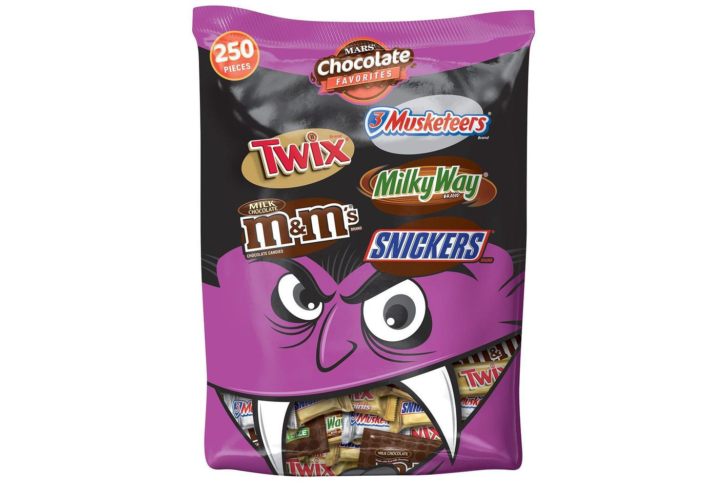 Mars Chocolate Favorites Halloween Candy Bars Variety Mix, 250-Piece Bag