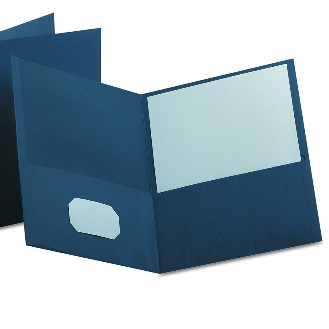 Dark Blue Oxford Twin Pocket Folders