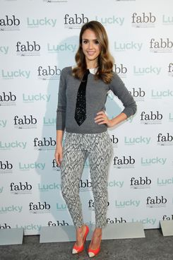 SANTA MONICA, CA - APRIL 30:  Actress Jessica Alba attends the Lucky Magazine Hosts First West Coast FABB: Fashion and Beauty Blog Conference held at Annenberg Beach House on April 30, 2012 in Santa Monica, California.  (Photo by Donato Sardella/WireImage)
