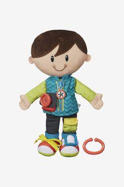 Playskool Dressy Kids Boy Activity Plush Stuffed Doll Toy