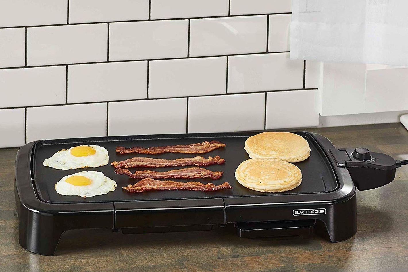 Merveilleux BLACK+DECKER Family Sized Electric Griddle With Warming Tray U0026 Drip Tray,  GD2051B
