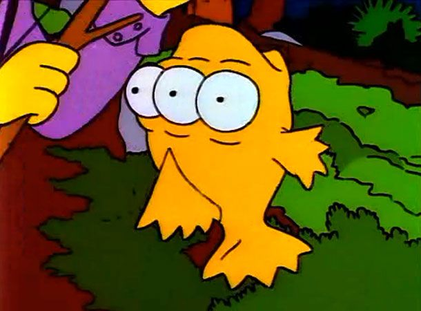Simpsons writers 10 favorite obscure characters vulture for Blinky the fish