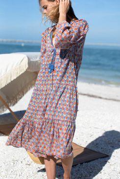 Heirloom Dress Wednesday Flowers Blues