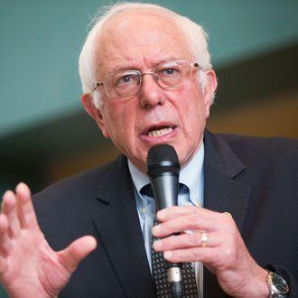 Bernie Sanders Holds Town Hall Meeting In in Wausau, Wisconsin.