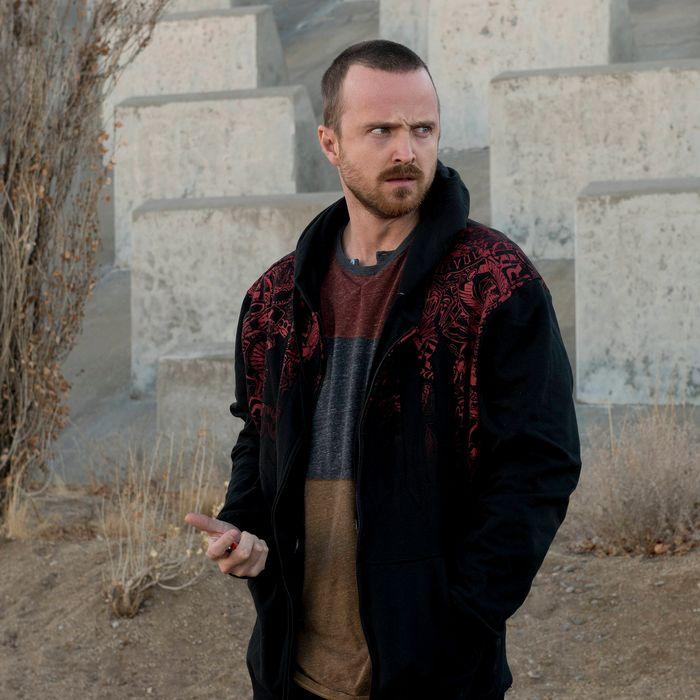Jesse Pinkman (Aaron Paul) - Breaking Bad _ Season 5, Episode 11 - Photo Credit: Ursula Coyote/AMC