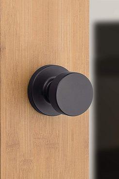Kwikset Pismo Hallway/Closet Doorknob Iron Black