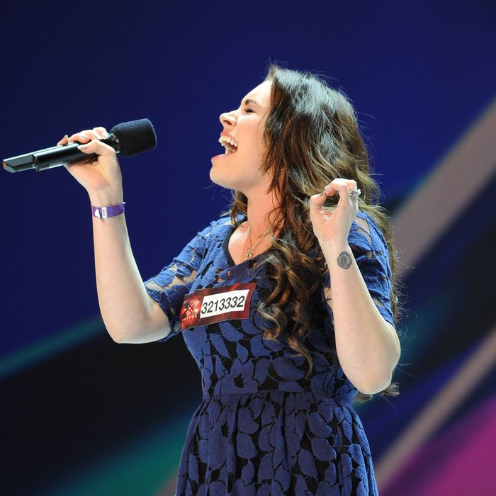Sophie Simmons performs in front of the judges on an all new epsiode of THE X FACTOR airing Wednesday Sep. 26