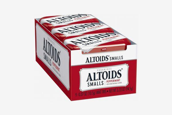 Altoids Smalls Peppermint Breath Mints, Pack of 9