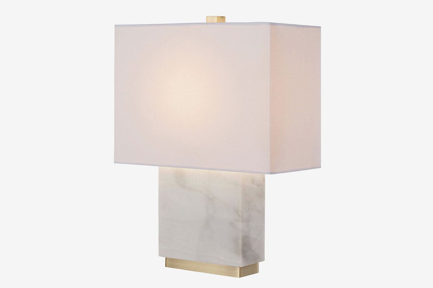 Rivet Mid-Century Marble and Brass Table Lamp