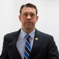 Rep. Trey Radel, R-Fla., leaves the House Republican Conference meeting in the basement of the Capitol on Wednesday, Jan. 8, 2014. Radel returned to Congress after pleading guilty to cocaine possession in November.