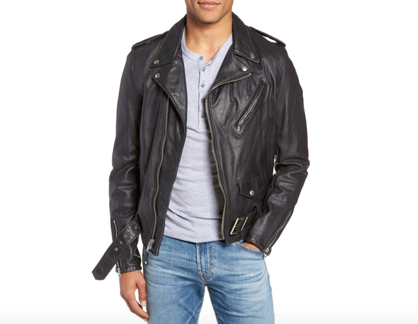 Schott Hand Vintaged Cowhide Leather Motorcycle Jacket