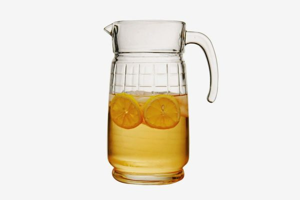 Circleware Windowpane Glass 8 Cup Water Pitcher With Handle