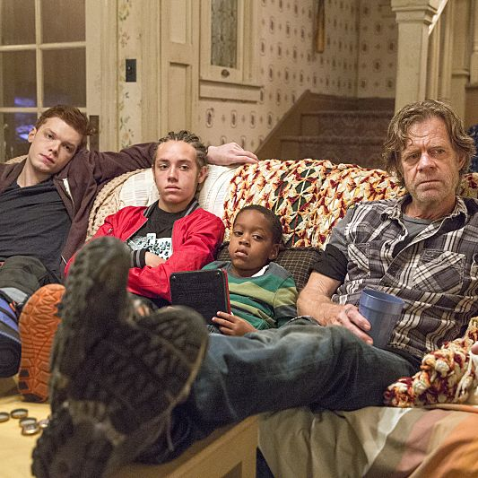 Cameron Monaghan as Ian, Ethan Cutkosky as Carl, Brandon/Brenden Sims as Liam, William H. Macy as Frank.