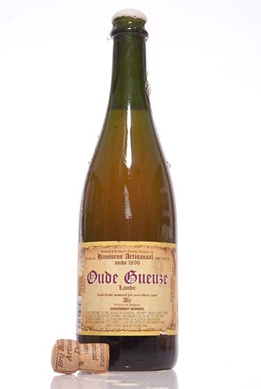 "Hanssens Artisanaal (Belgium)<br>$27 for 25 oz. <br><strong>Type:</strong> Gueuze<br><strong>Tasting notes:</strong> ""Bracingly tart in both the nose and flavor: barnyard, Granny Smith apple, and haylike flavors. This is that perfect beer to replace your glass of lemonade."" <br>—Erik Olsen, manager, Brouwerij Lane<br> <br>"