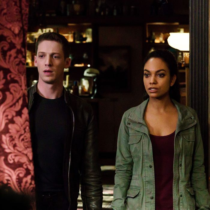 "SLEEPY HOLLOW: L-R: Zach Appelman and Lyndie Greenwood in the ""Incident At Stone Manor"