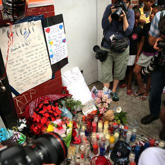 NEW YORK, NY - JULY 19: A memorial to