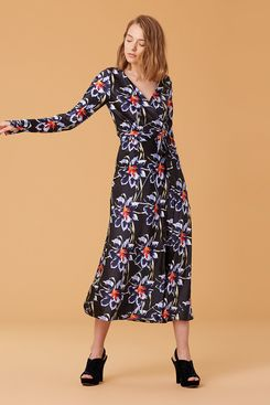 Diane von Furstenberg Tilly Satin Wrap Dress