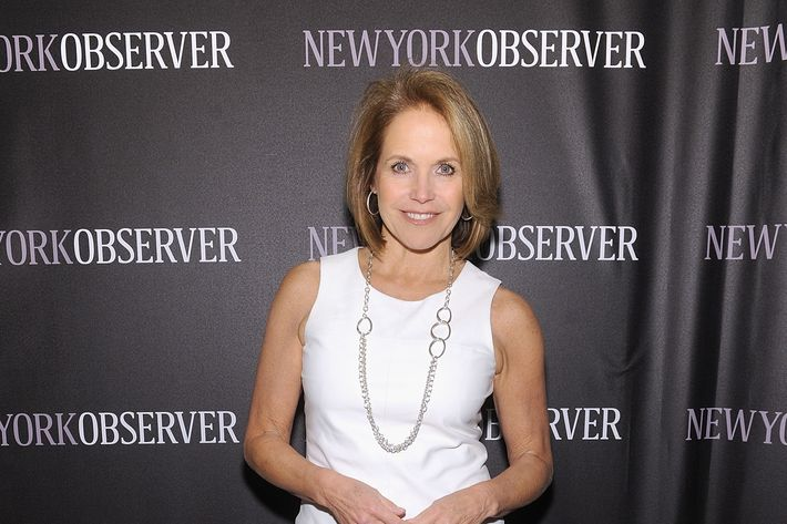 NEW YORK, NY - APRIL 01: Katie Couric attends The New York Observer Relaunch Event on April 1, 2014 in New York City. (Photo by Jamie McCarthy/Getty Images)