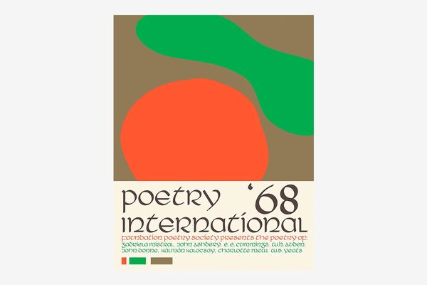 Poetry International 1968 poster