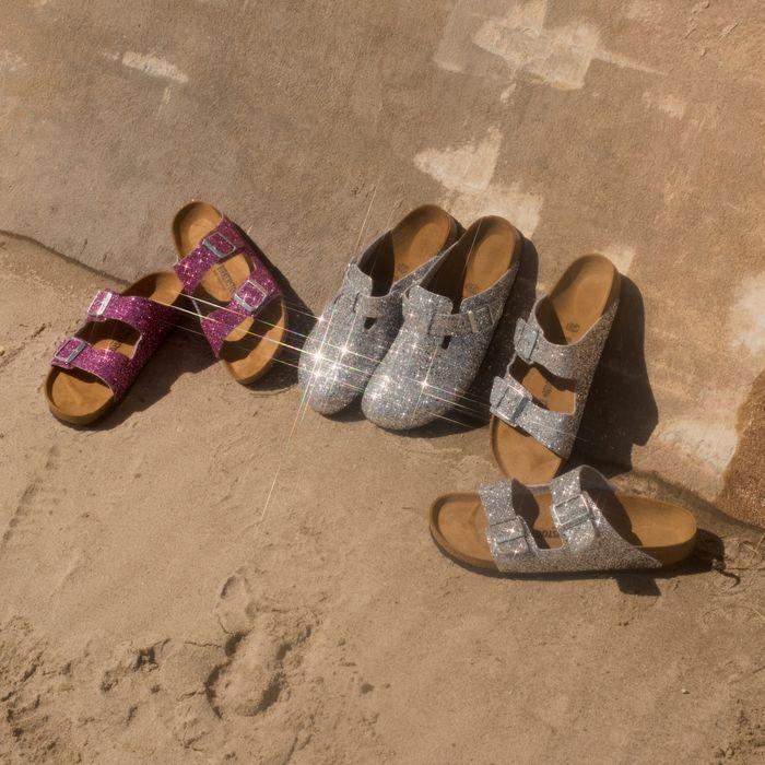 5653af1893ef Opening Ceremony and Birkenstock Made Sparkly Sandals