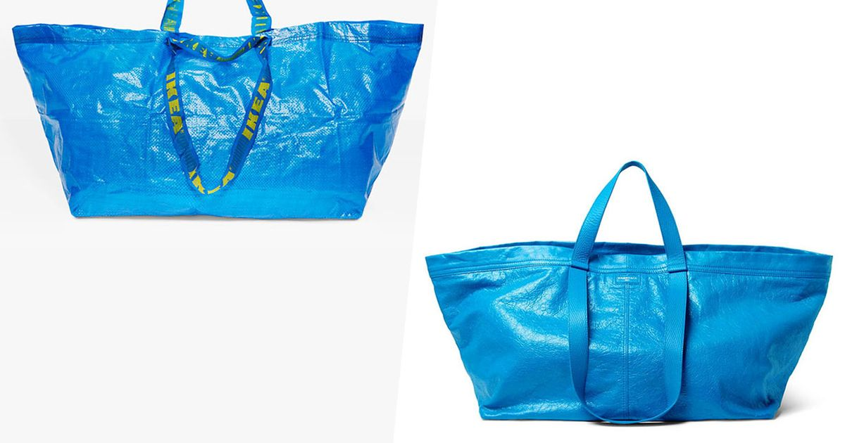 d57ab0abf Ikea Responds to Balenciaga's $2,145 Look-alike Tote Bag