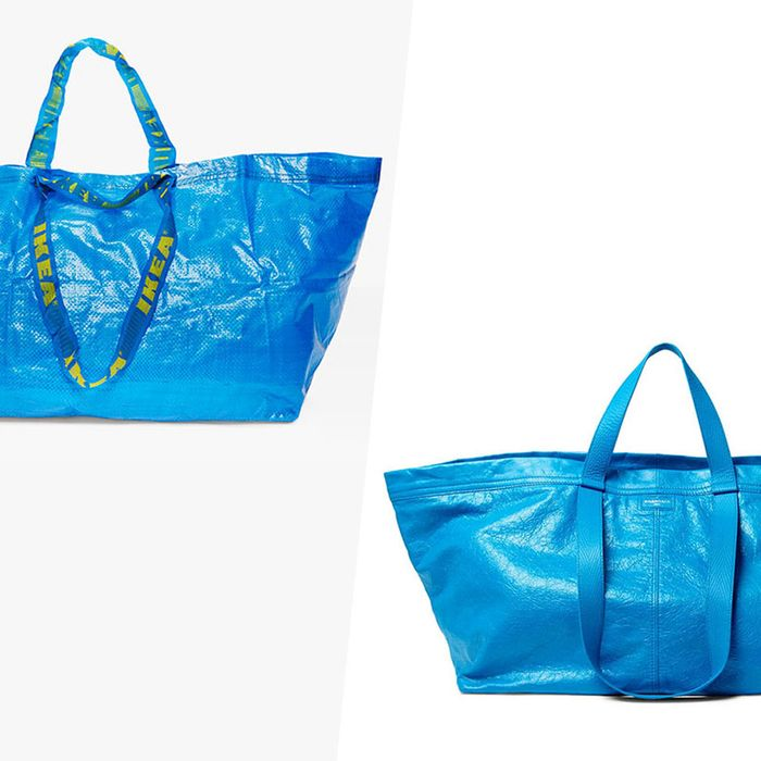 Ikea Would Like You To Consider Its 99 Cent Tote Over Balenciaga S 2 145 Version