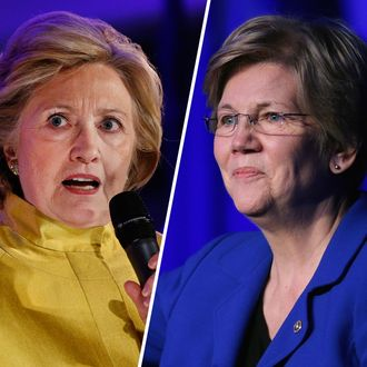Hillary Clinton and Elizabeth Warren