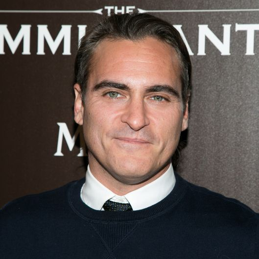 "NEW YORK, NY - MAY 06:  Actor Joaquin Phoenix attends the Dior & Vanity Fair with The Cinema Society host the premiere of The Weinstein Company's ""The Immigrant"" at The Paley Center for Media on May 6, 2014 in New York City.  (Photo by J Carter Rinaldi/FilmMagic)"