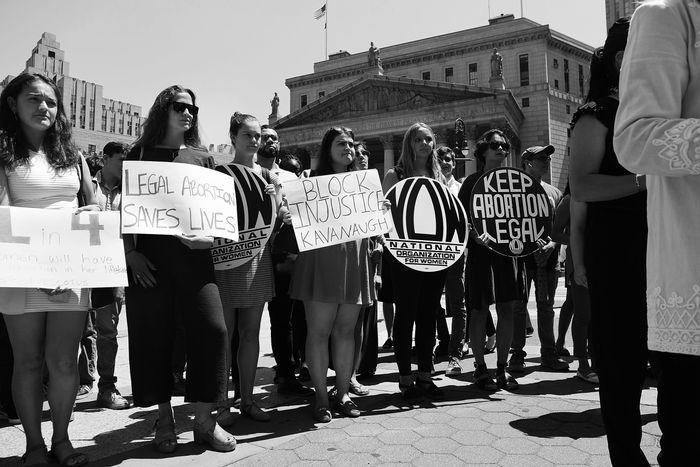 Brett Kavanaugh protest.