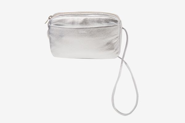 7 For All Mankind Baggu Mini Purse In Silver