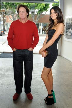 HOLLYWOOD, CA - APRIL 24: Bruce Jenner and Kendall Jenner attend the Nomad Two Worlds and Russell James Private Reception at Guy Hepner Gallery on April 24, 2013 in Hollywood, California. (Photo by Amy Graves/WireImage)