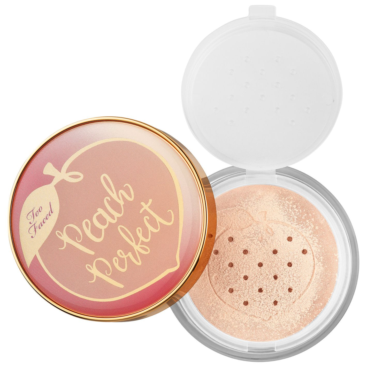 Too Faced Peach Perfect Mattifying Setting Powder — Peaches and Cream Collection