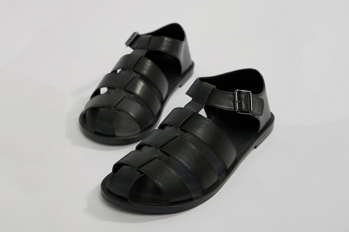 ASOS DESIGN Fisherman Sandals In Black