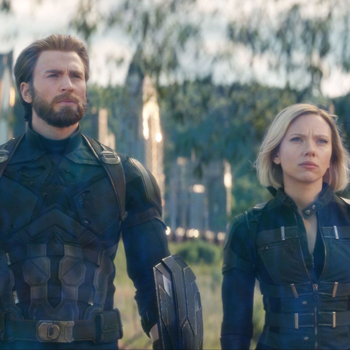 Scarlett Johansson And Chris Evans Talk Marvel Controversy