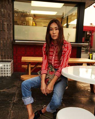 Jayne Min in Gucci.