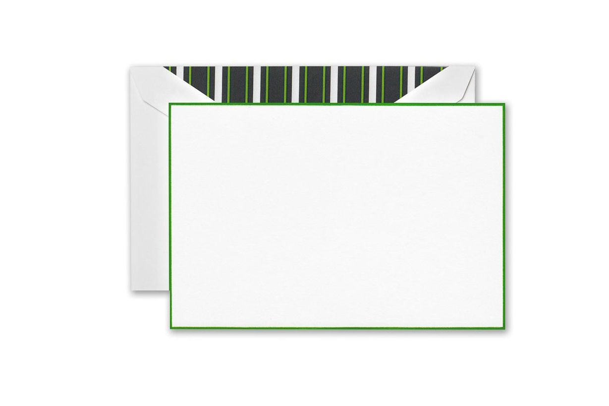 Crane & Co. Spring Green Bordered Correspondence Cards